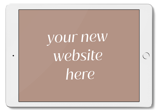 your new website here small